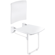 510436N-Lift-up Comfort shower seat with backrest and leg