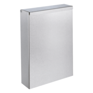 465S-Wall-mounted stainless steel bin with cover, 4.5 litres