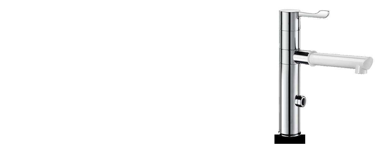 Mezclador electrónico con caño desmontable