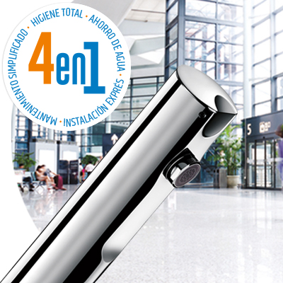 T4 sin contacto - Grifo mezclador y grifo electrónicos de lavabo